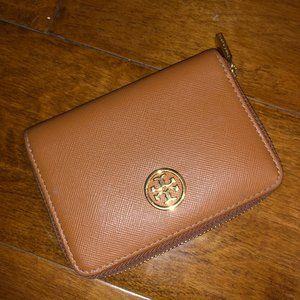 Tory Burch Small Leather Wallet Chestnut